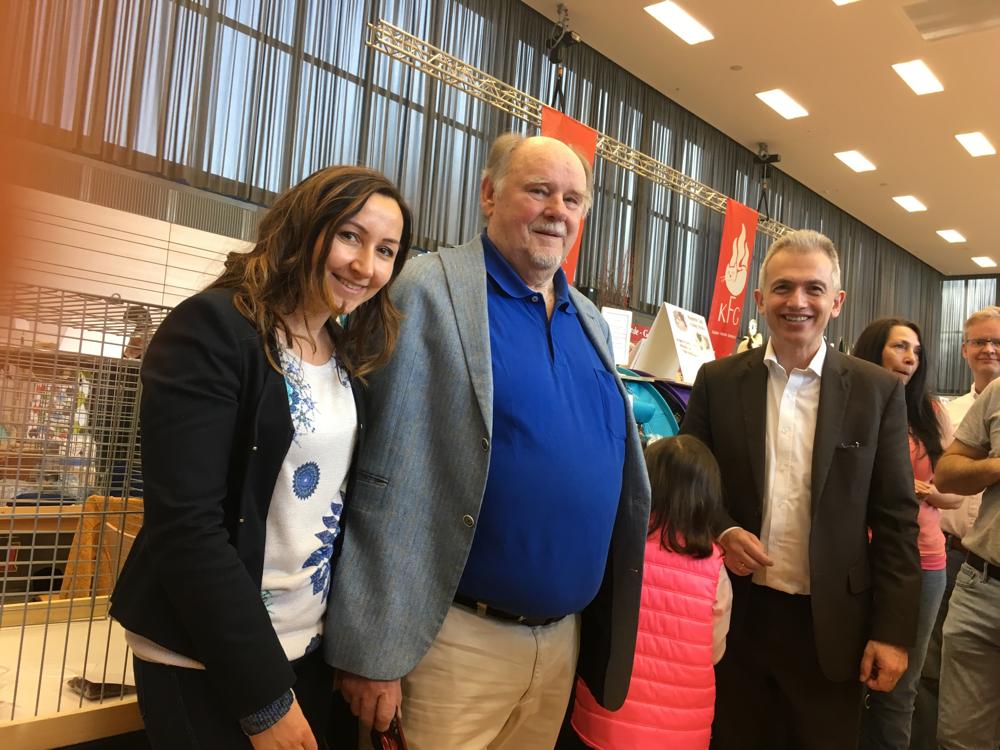 Cat World- Weltausstellung mit Oberbürgermeister Peter Feldmann und Helmut Grohmann März 2017