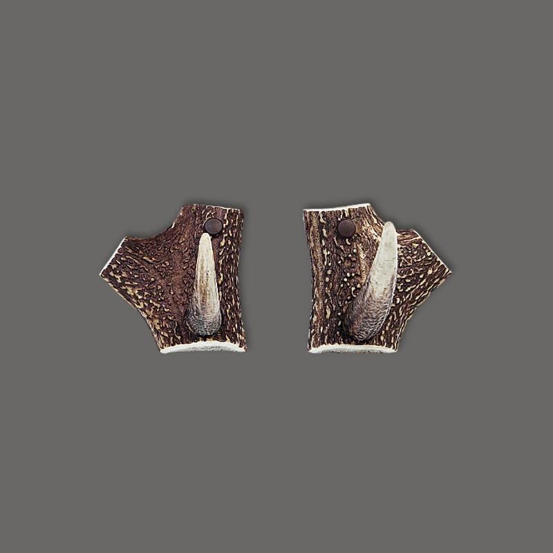 Kleine-Garderobenhaken-aus-Hirschhorn