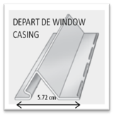 Départ de window casing