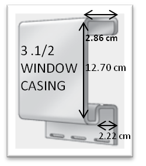 3.1/2 Window casing