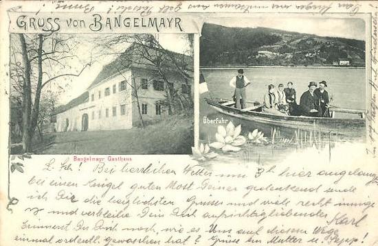 Gasthaus Bangelmayr, Überfuhr, 1906