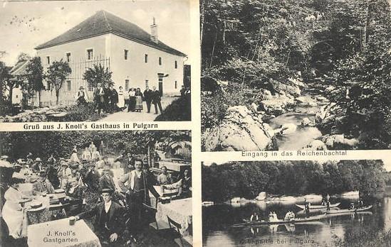 J. Knoll's Gasthaus in Pulgarn, 1916