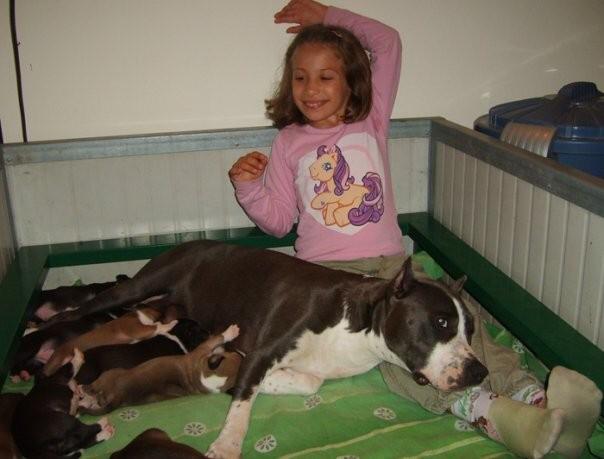 La dolce Pepè e la nostra puppy-sitter Gloria..