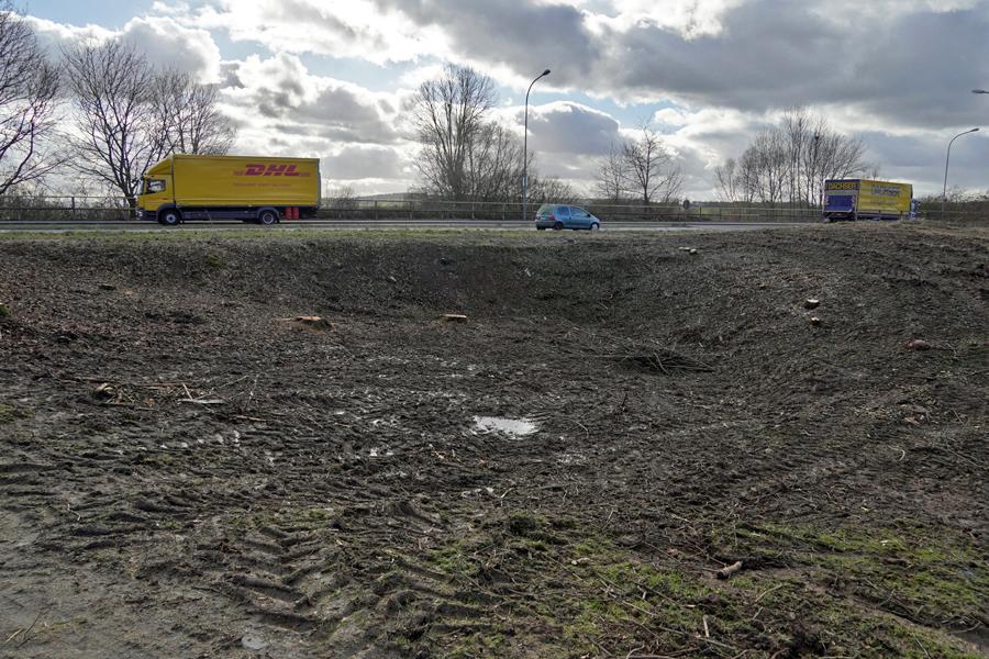 A. Röhm: Platz für die geplante Phosphatreinigungsanlage