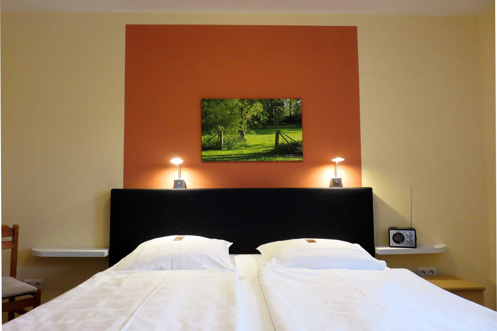 Beispiel Hotelzimmer mit Boxspring-Bett