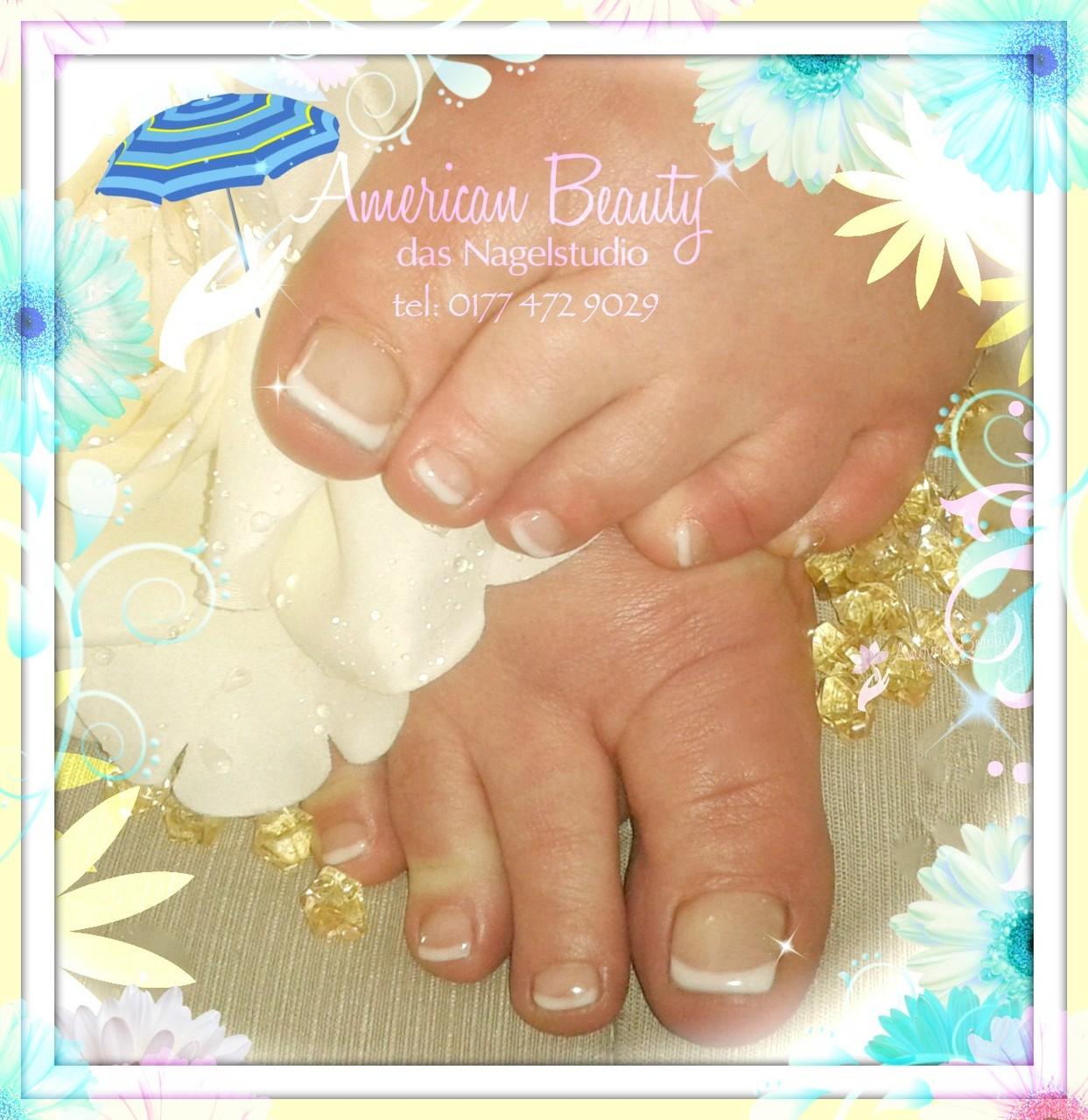 Immer Klassisch! - Fußnagelmodellage durch Make-Up Gel mit French