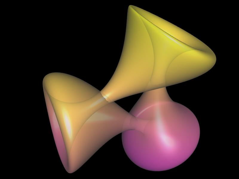 Jeener Klein Fläche mit a=2 transparent