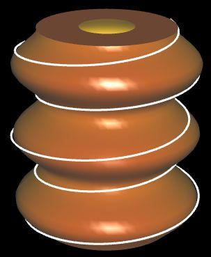 Baumkuchenmodell mit Zuckerguss-Spirale