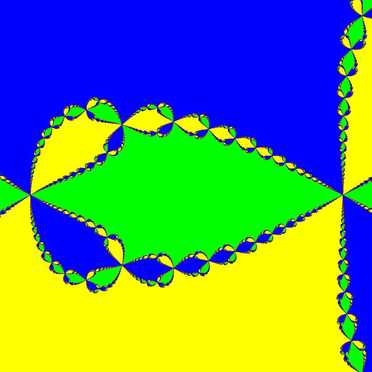 Newton - Basins of Attraction von f(z)=z^3-1, Zoom a
