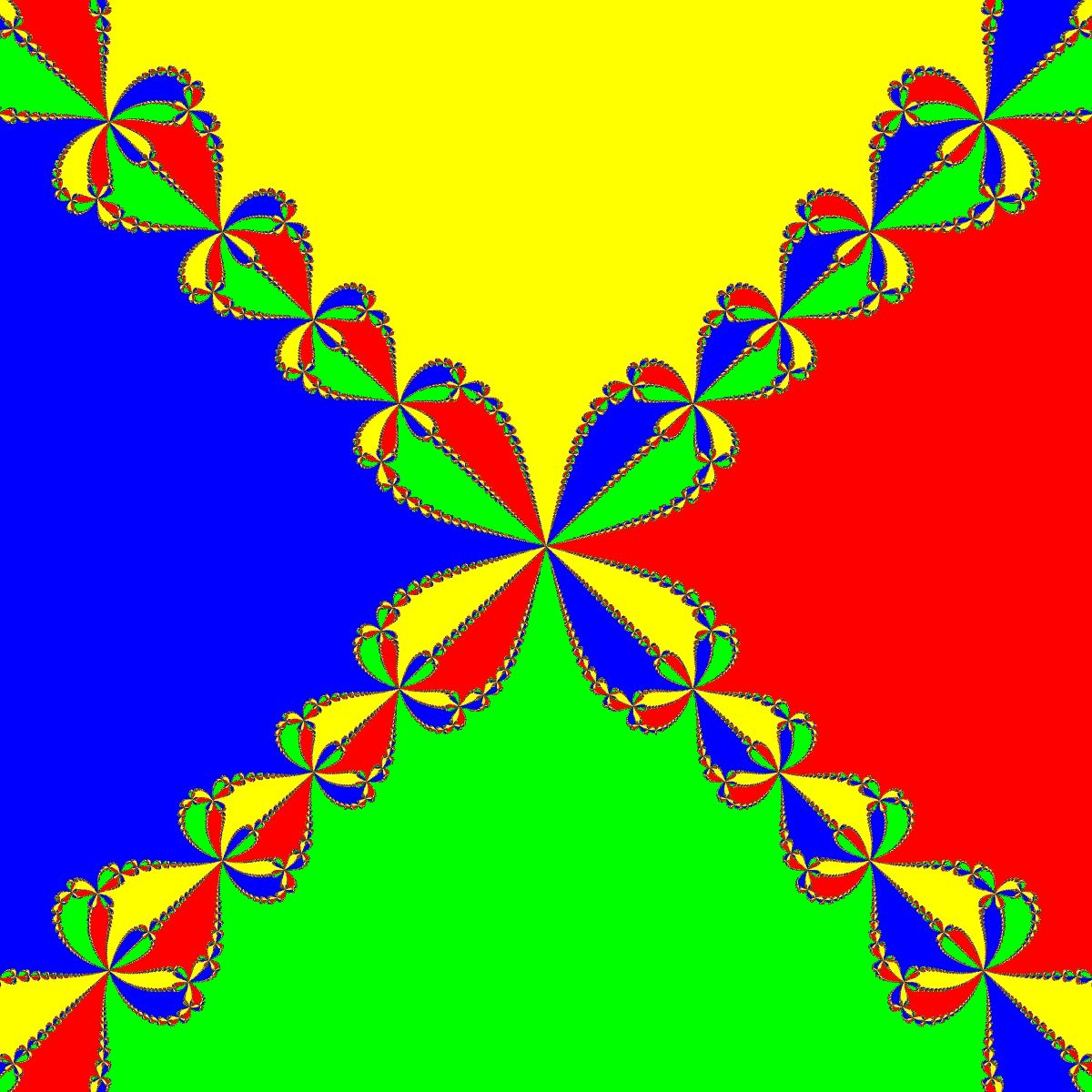 Newton - Basins of Attraction von f(z)=z^4-1