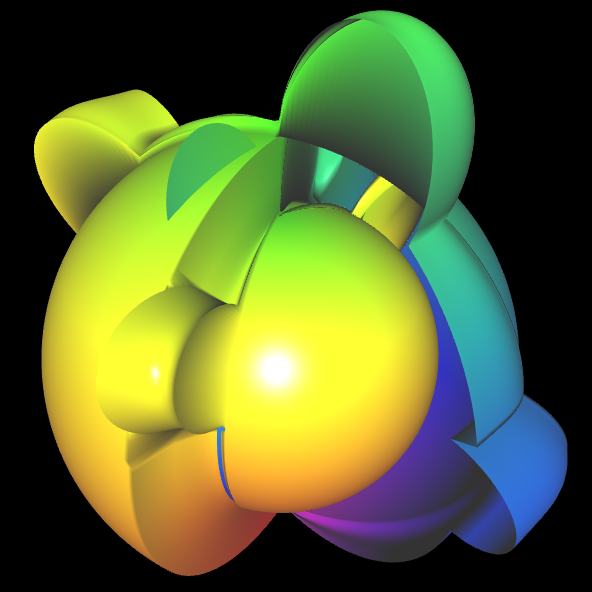 Spherical Harmonic - reelle Koeffizienten - offen 2