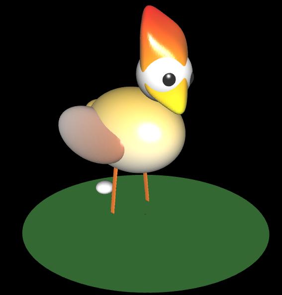 3D Huhn mit Ei - 2