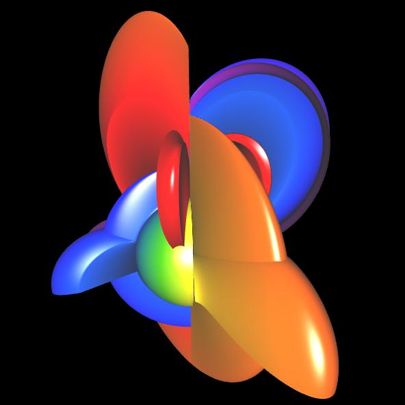 Spherical Harmonic - reelle Koeffizienten - offen 3
