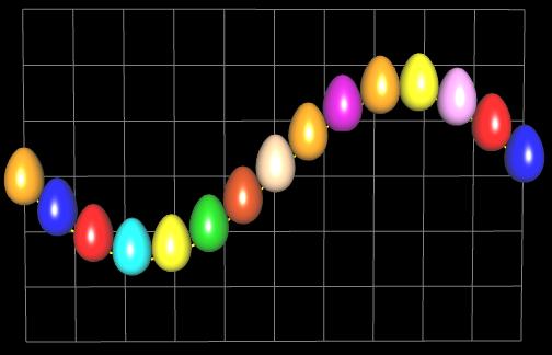 Funktionsgraph aus 3D Eiern