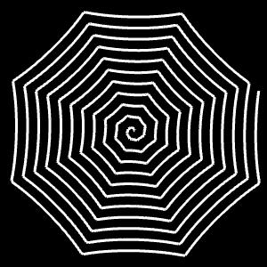 Superformel:   Modulation von r mit φ  (0 ≤ φ ≤ 50)