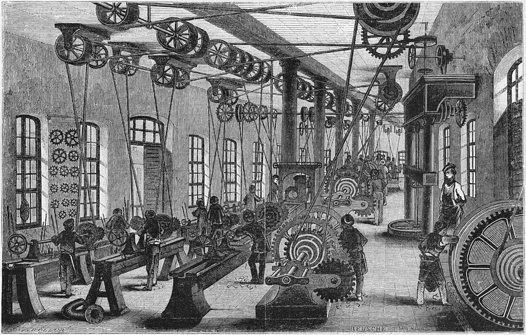 Drehbänke in Maschinenbauanstalt (1849) [1]