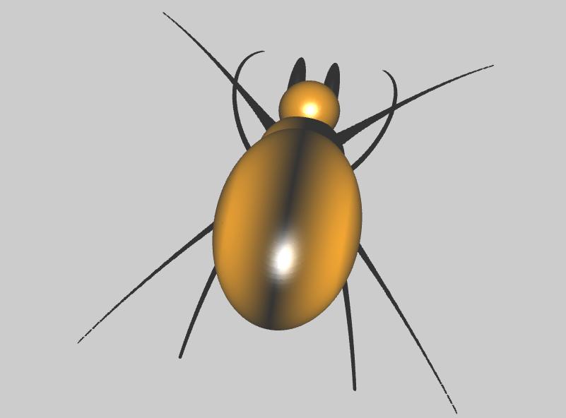 3D Spinne mit impliziten Flächen