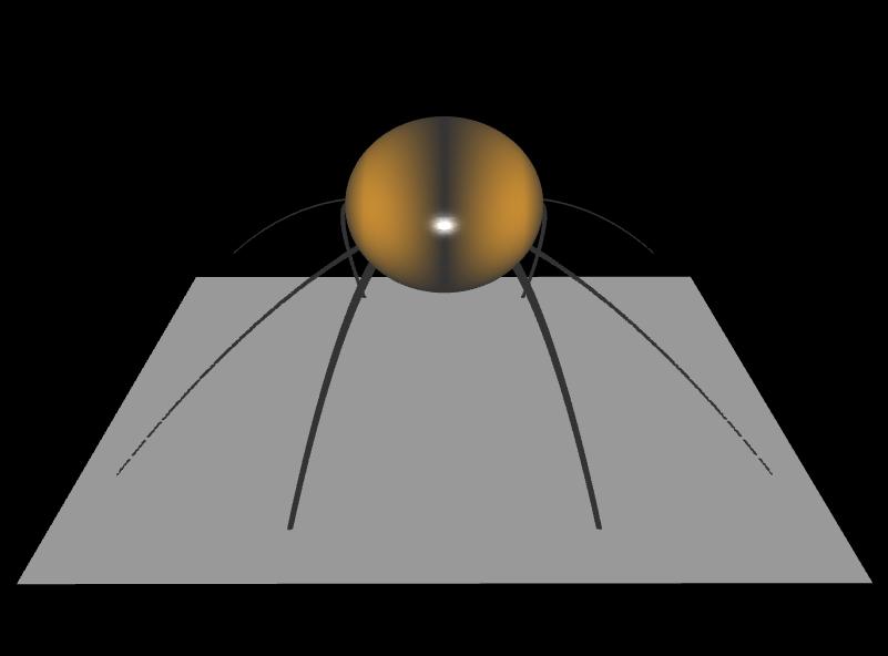 3D Spinne mit impliziten Flächen - Rückansicht