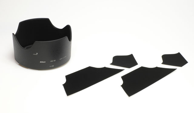 Fineshut Lens hood Stray Light Reduction kit for HB-84 NIKON