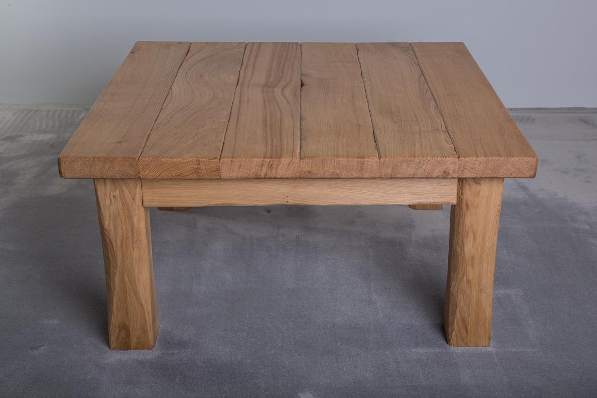 Rustikaler Holz Couchtisch Eiche Holzfabrik