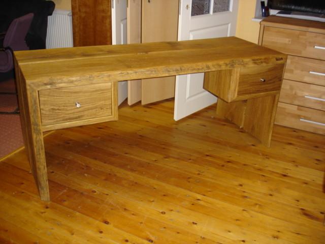Rustikaler Schreibtisch rustikaler schreibtisch aus eichenholz holzfabrik