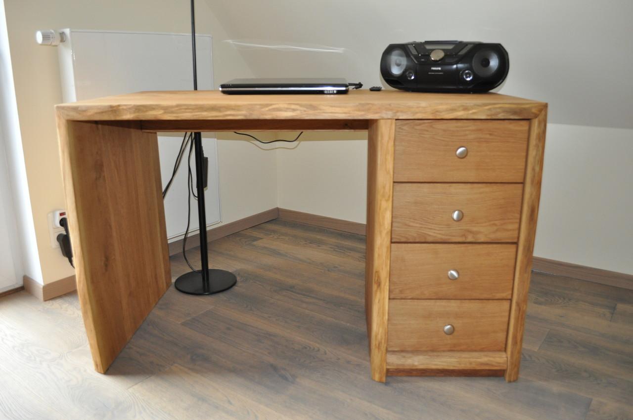 rustikaler schreibtisch aus eichenholz holzfabrik. Black Bedroom Furniture Sets. Home Design Ideas