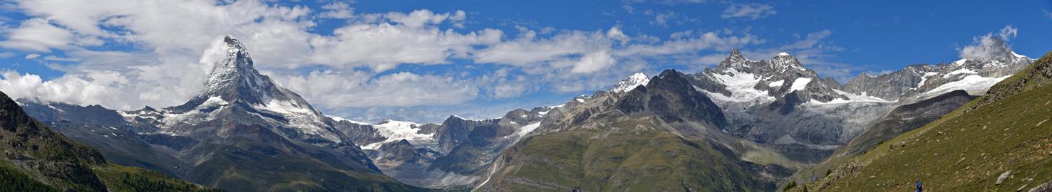 Blick vom Blauherd Richtung Matterhorn, Teilpanorama