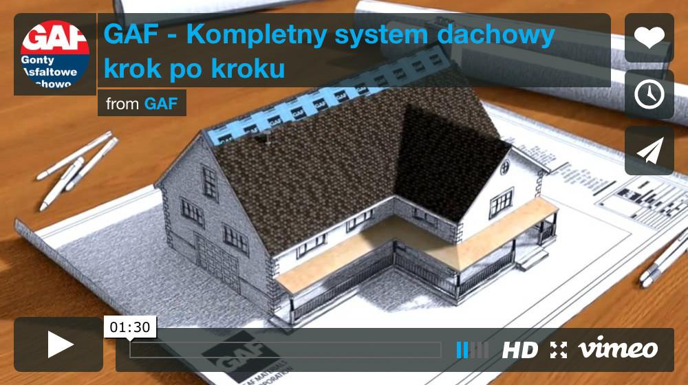 kompleksowystem dachowy gaf, jak pokryć dach systemem gaf