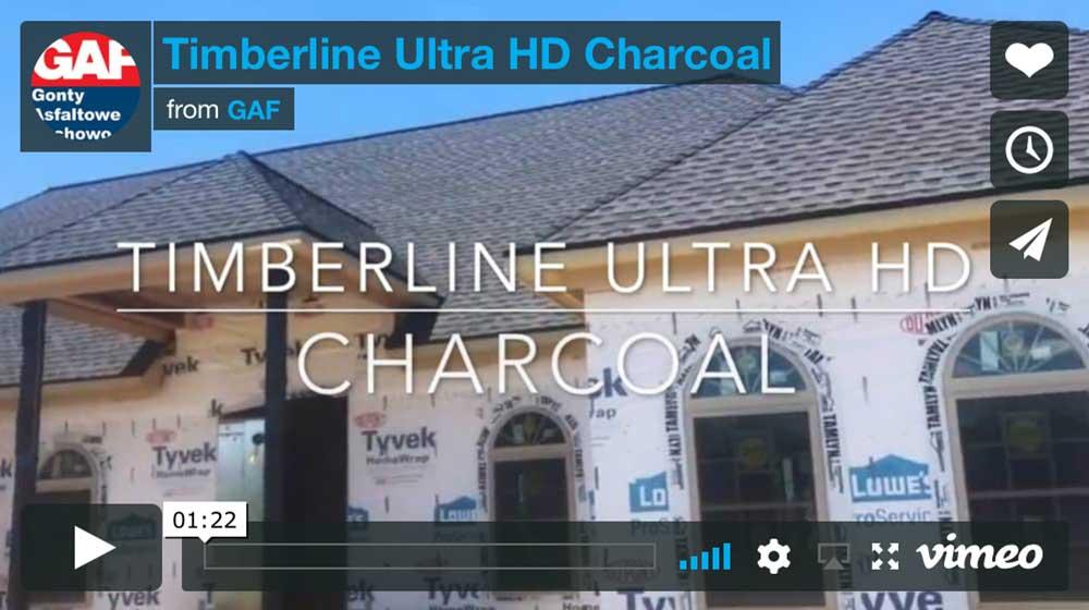 Film - Dach pokryty gontem GAF timberline Ultra HD w kolorze charcoal