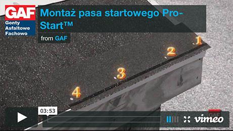 Gont bitumiczny GAF - Montaż pasa startowego Pro-Start, pokrycia dachowe, dachówka bitumiczna, gonty bitumiczne, dach, gont, gonty, dachówki, laminowany,