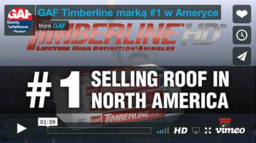Gonty GAF Timberline® HD™ marką nr 1 w Ameryce Północnej i Kanadzie