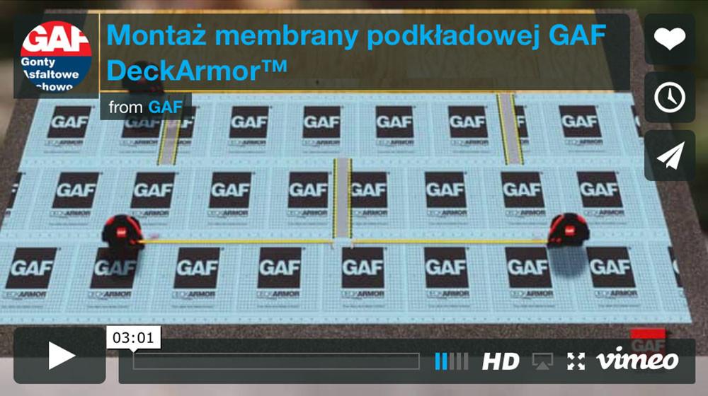 dachy i gonty bitumiczne z usa - Montaż membrany podkładowej GAF Deck Armor™