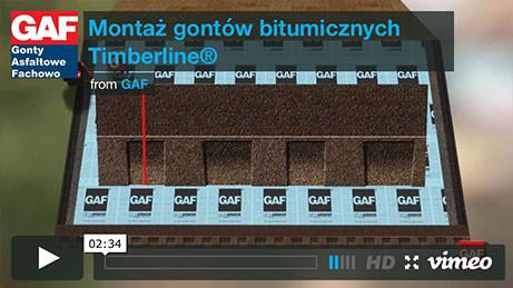 Gont bitumiczny GAF - Montaż gontów bitumicznych Timberline, pokrycia dachowe, dachówka bitumiczna, gonty bitumiczne, dach, gont, gonty, dachówki, laminowany,