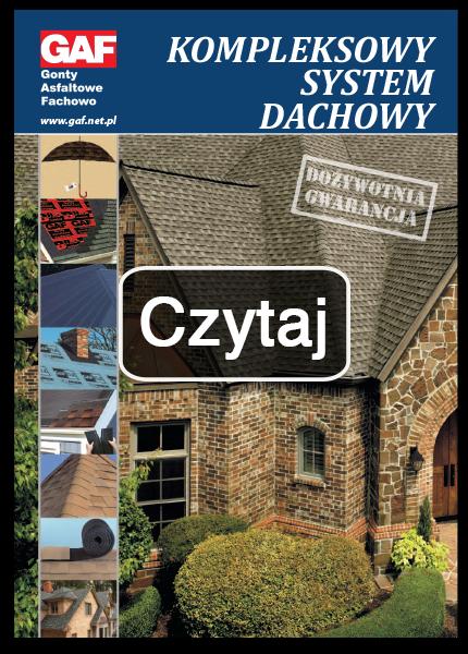 broszura reklamowa gont bitumiczny laminowany i akcesoria dachowe gaf, timberline hd