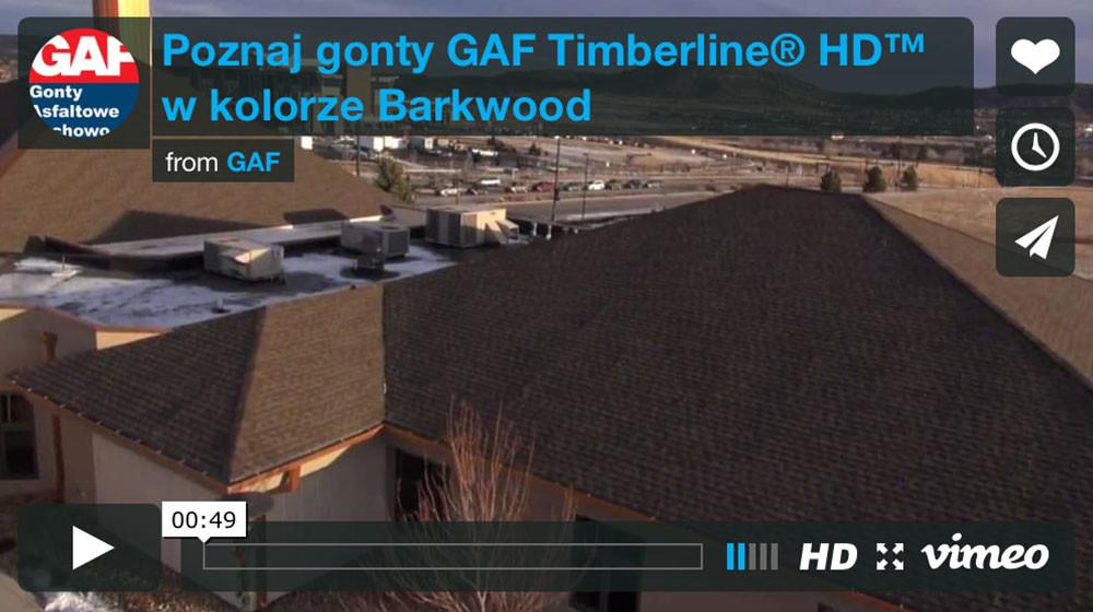 na dachu znajdują się gonty bitumiczne gaf timberline hd w kolorze barkwood