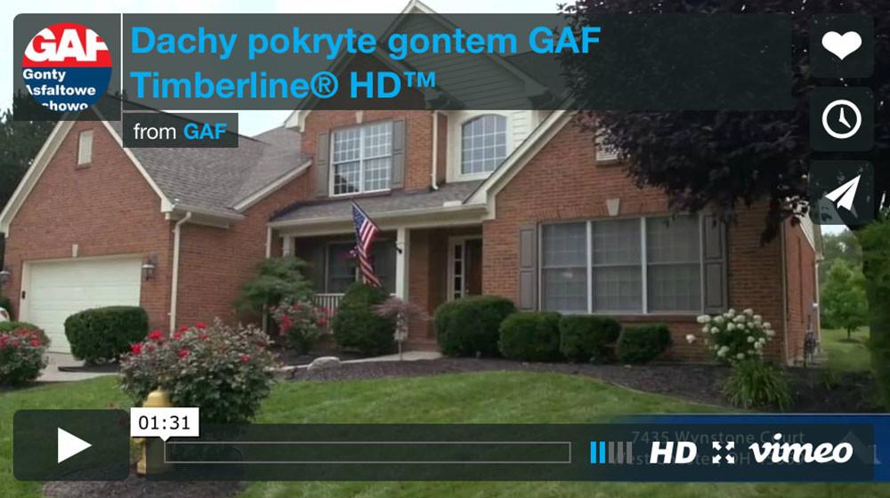 Dachy pokryte gontem GAF Timberline® HD™