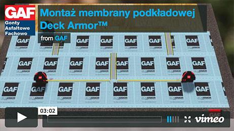 Gont bitumiczny GAF - Montaż membrany podkładowe Deck Armor, pokrycia dachowe, dachówka bitumiczna, gonty bitumiczne, dach, gont, gonty, dachówki, laminowany,