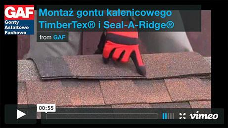 Gont bitumiczny GAF - Montaż gontu kalenicowego TimberTex i Seal-A-Ridge, pokrycia dachowe, dachówka bitumiczna, gonty bitumiczne, dach, gont, gonty, dachówki, laminowany,