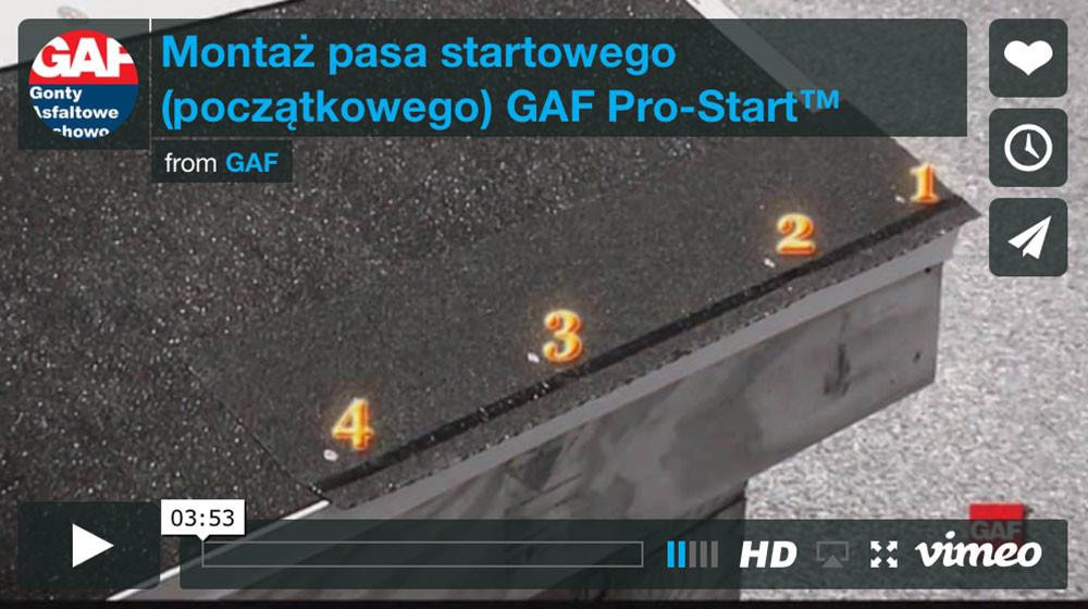 dachy i gonty z usa - Montaz pasa startowego GAF Pro-Start do gontów bitumicznych timberline™
