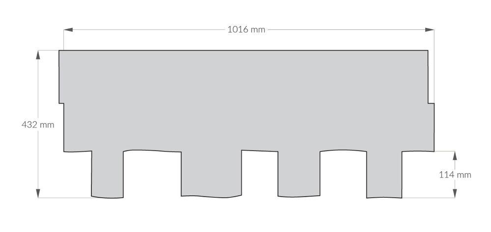 rysunek techniczny gontu z dożywotnią gwarancją gaf Grand Sequoia IR, pokrycia dachowe i akcesoria uzupełniające z USA, Kanada