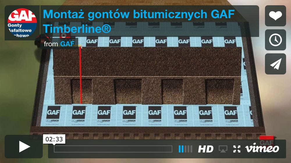 Dachy i gonty z usa - Montaż gontów bitumicznych GAF Timberline®