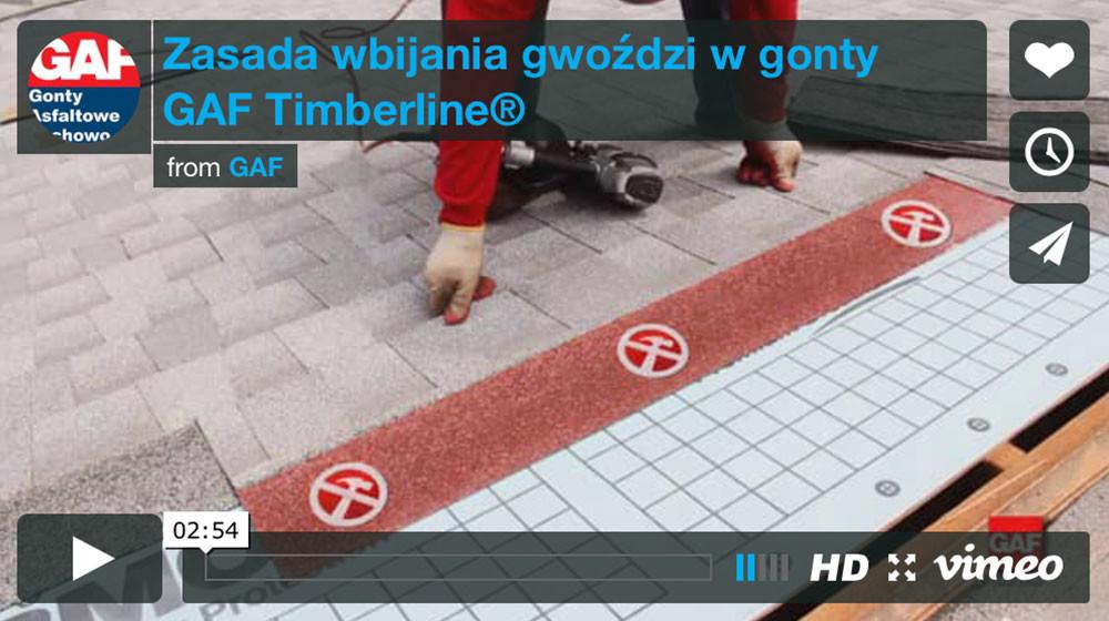 Dachy i gonty z usa - Zasada wbijania gwoździ w gonty GAF Timberline®