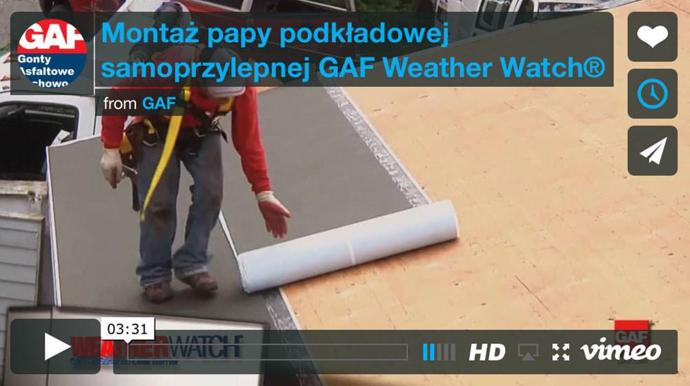 montaż papy samoprzylepnej gaf weather watch, dachy i gonty z usa