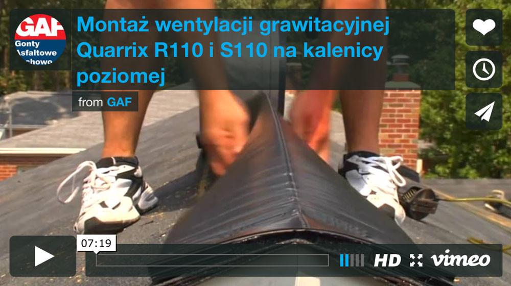 Dachy i gonty z usa - Montaż wentylacji kalenicowej Quarrix R110 i S110 na kalenicy poziomej