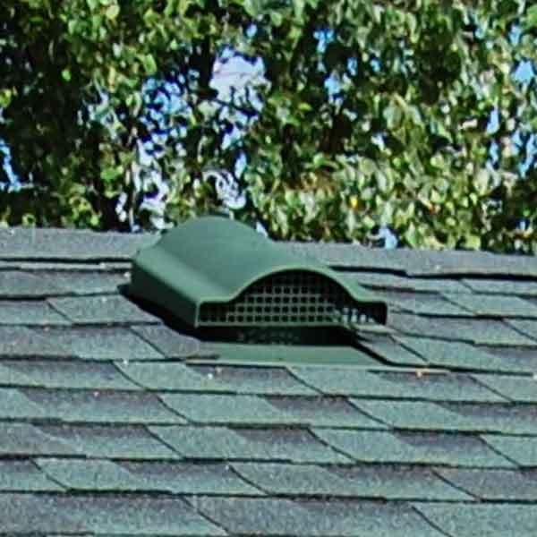 Wywietrzniki punktowe, wentylacja połaci dachowej pod gont bitumiczny, pokrycia dachowe, dach, gont, dachówka bitumiczna,