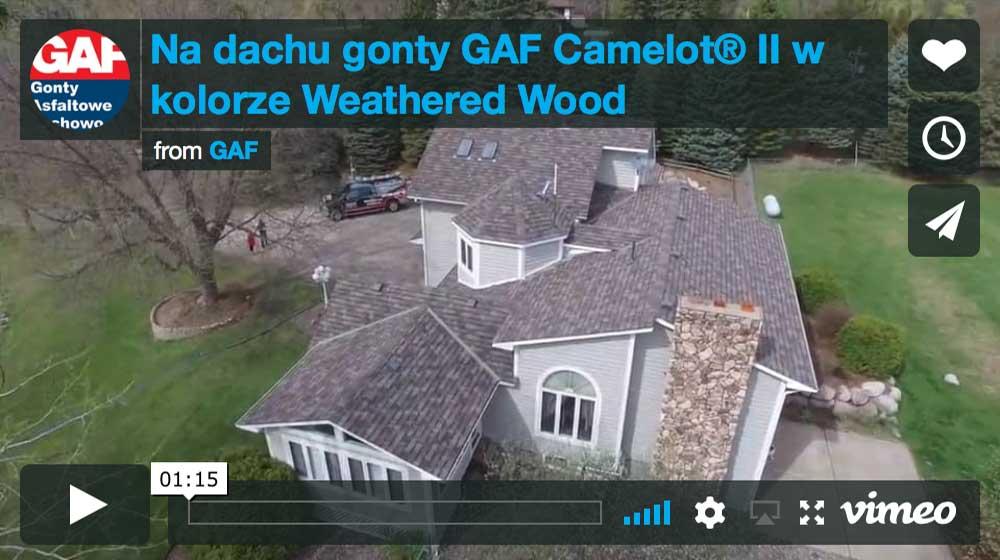 Dachy pokryte gontem GAF Camelot® 2