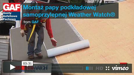 Gont bitumiczny GAF - Montaż papy podkładowej samoprzylepnej Weathere Watch, pokrycia dachowe, dachówka bitumiczna, gonty bitumiczne, dach, gont, gonty, dachówki, laminowany,