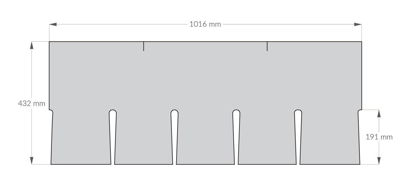 rysunek techniczny gontu z dożywotnią gwarancją gaf Slateline, pokrycia dachowe i akcesoria uzupełniające z USA, Kanada