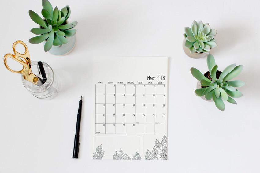 Kalender zum ausdrucken (freebie)