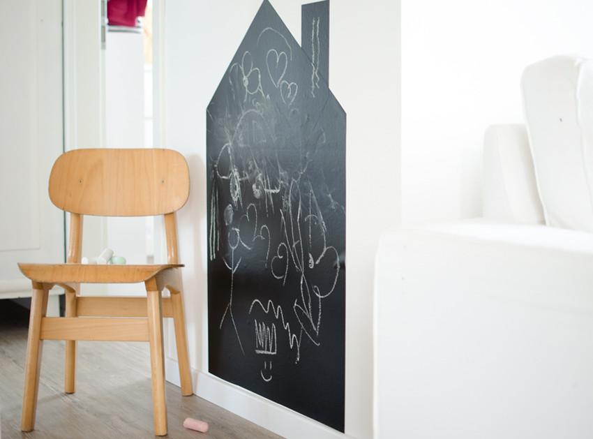 tafelfolie im kinderzimmer diy stilarten kunst und design. Black Bedroom Furniture Sets. Home Design Ideas
